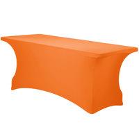 Snap Drape CN420CV30630731 Contour Cover 72 inch x 30 inch Mango Spandex Table Cover