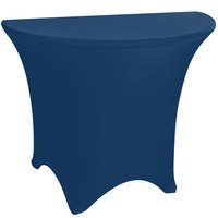 Marko EMB5026HR60062 Embrace 60 inch Half Round Cadet Blue Spandex Table Cover