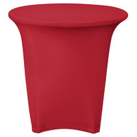 Snap Drape CC30R-CRIMSON Contour Cover 30 inch Round Crimson Spandex Table Cover