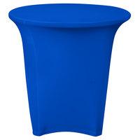 Snap Drape CC30R-ROYAL BLUE Contour Cover 30 inch Round Royal Blue Spandex Table Cover