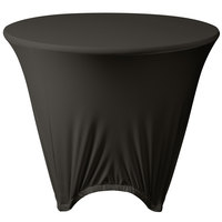 Marko EMB5026R36512 Embrace 36 inch Round Charcoal Spandex Table Cover
