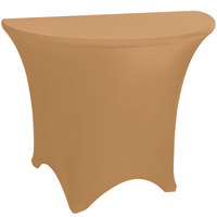 Marko EMB5026HR60049 Embrace 60 inch Half Round Sandalwood Spandex Table Cover