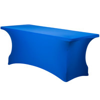 Snap Drape CC630-ROYAL BLUE Contour Cover 72 inch x 30 inch Royal Blue Spandex Table Cover