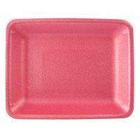 CKF 88094 (#4PR) Rose Foam Meat Tray 9 1/4 inch x 7 1/4 inch x 1 1/4 inch - 500/Case