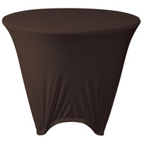 Marko EMB5026R36515 Embrace 36 inch Round Chocolate Spandex Table Cover