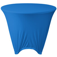 Marko EMB5026R36062 Embrace 36 inch Round Cadet Blue Spandex Table Cover