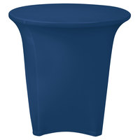 Marko EMB5026R24062 Embrace 24 inch Round Cadet Blue Spandex Table Cover