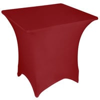Marko EMB5026S6060046 Embrace 60 inch Square Burgundy Spandex Table Cover