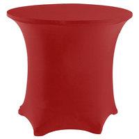 Snap Drape CC48R-CRIMSON Contour Cover 48 inch Round Crimson Spandex Table Cover