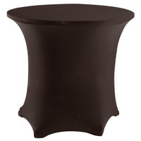 Snap Drape CN420R4830515 Contour Cover 48 inch Round Chocolate Spandex Table Cover