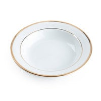 CAC GRY-11 Golden Royal 5 inch Bright White Porcelain Fruit / Monkey Dish - 36/Case