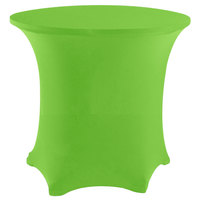 Snap Drape CC48R-LIME GREEN Contour Cover 48 inch Round Lime Green Spandex Table Cover