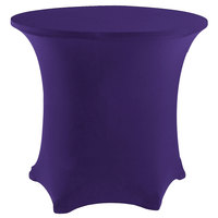 Snap Drape CC48R-PURPLE Contour Cover 48 inch Round Purple Spandex Table Cover