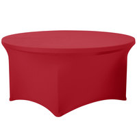 Snap Drape CC60R-CRIMSON Contour Cover 60 inch Round Crimson Spandex Table Cover