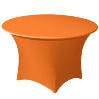 Snap Drape CC66R-MANGO Contour Cover 66 inch Round Mango Spandex Table Cover