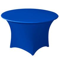 Snap Drape CC66R-ROYAL BLUE Contour Cover 66 inch Round Royal Blue Spandex Table Cover