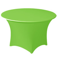 Snap Drape CC66R-LIME GREEN Contour Cover 66 inch Round Lime Green Spandex Table Cover