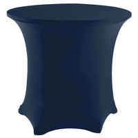 Snap Drape CC48R-NAVY Contour Cover 48 inch Round Navy Spandex Table Cover