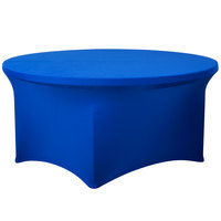 Snap Drape CC60R-ROYAL BLUE Contour Cover 60 inch Round Royal Blue Spandex Table Cover