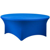 Snap Drape CC72R-ROYAL BLUE Contour Cover 72 inch Round Royal Blue Spandex Table Cover