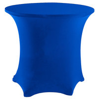 Snap Drape CC48R-ROYAL BLUE Contour Cover 48 inch Round Royal Blue Spandex Table Cover