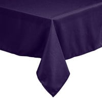 Intedge 54 inch x 54 inch Square Purple 100% Polyester Hemmed Cloth Table Cover
