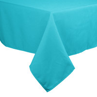 54 inch x 54 inch Teal 100% Polyester Hemmed Cloth Table Cover