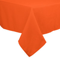 54 inch x 54 inch Orange 100% Polyester Hemmed Cloth Table Cover