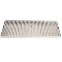 Micro Matic DP-820D-20 8 inch x 20 inch Stainless Steel Surface Mount Drip Tray with Drain
