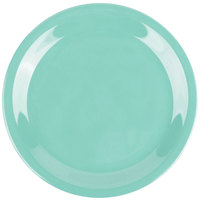 GET NP-6-FG Diamond Mardi Gras 6 1/2 inch Rainforest Green Narrow Rim Round Melamine Plate - 48/Case