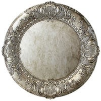 The Jay Companies 14 inch Round Silver Embossed Polypropylene Charger Plate