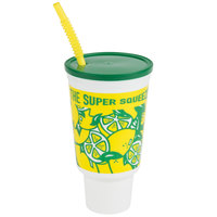 44 oz. Tapered Tall Plastic Cold Cup with Straw and Lid   - 200/Case