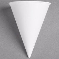 Dart Solo 6RB-2050 Bare Eco-Forward 6 oz. White Rolled Rim Paper Cone Cup with Poly Bag Packaging - 200/Pack