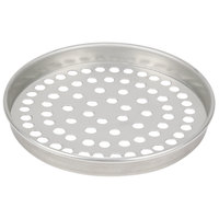 American Metalcraft SPT4006 6 inch x 1 inch Super Perforated Tin-Plated Steel Straight Sided Pizza Pan