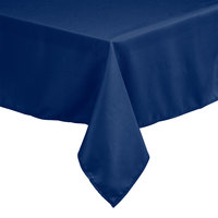 72 inch x 120 inch Rectangular Royal Blue 100% Polyester Hemmed Cloth Table Cover