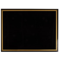 Rainbow Sign Mfg. RMW-1824-B 18 inch x 24 inch Ebony (Black) Marker Board