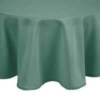 Intedge 72 inch Round Seafoam Green 100% Polyester Hemmed Cloth Table Cover