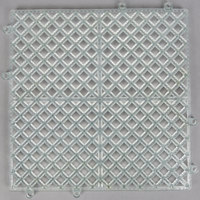 12 inch x 12 inch Clear Interlocking Bar Mat
