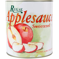 Regal Foods #10 Can Sweetened Applesauce - 6/Case
