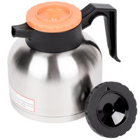 1.9 Liter Insulated Thermal Coffee Server with Regular and Decaf Lids - 7 inch x 6 3/8 inch