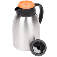 1.9 Liter Insulated Thermal Coffee Server with Regular and Decaf Lids - 9 1/2 inch x 5 1/2 inch