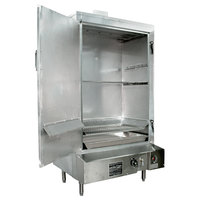 Town SM-36-L-SS Natural Gas Indoor 36 inch Stainless Steel Smokehouse with Left Door Hinges - 75,000 BTU