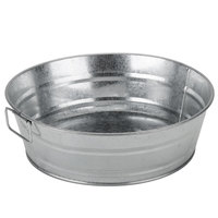 American Metalcraft MTUB10 10 inch x 3 inch Round Galvanized Metal Tub