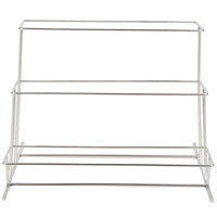 GET MTS-034 3 Tier Rectangular Cascading Stainless Steel Display Stand - 19 3/4 inch x 17 3/4 inch