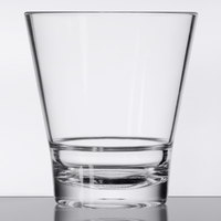 GET S-9-CL Revo 9 oz. Clear Customizable SAN Plastic Rocks Glass - 24/Case
