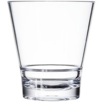 GET S-9-CL Revo 9 oz. Clear SAN Plastic Rocks Glass   - 24/Case