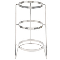 GET MTS-029-SS 3 Tier Cascading Stainless Steel Display Stand - 11 1/4 inch x 17 3/4 inch
