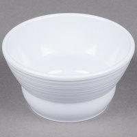 GET B-10-MN-W Minski 8 oz. White Melamine Textured Rim Bowl - 12/Case