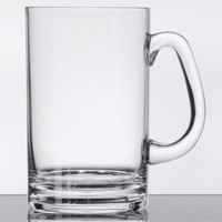 GET SW-1464-CL 20 oz. Customizable Clear Plastic Beer Mug with Handle - 24/Case