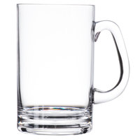 GET SW-1464-CL 20 oz. Clear Plastic Beer Mug with Handle - 24/Case
